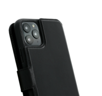 Premium leather 2in1 wallet case Minim for Iphone 11 Pro, black